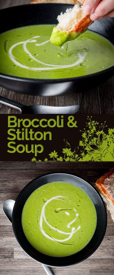 Classic flavour combinations are front and centre in this classic British Broccoli and Stilton soup, if you can't find Stilton consider other blue cheeses. #soup #broccoli #stilton #vegetarian #britishfood #recipe #recipeoftheday #recipeideas