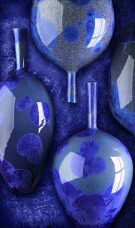 Blue | Blau | Bleu | Azul | Blå | Azul | 蓝色 | Color | Form | Texture | Richard Bideau. Blue Pots.