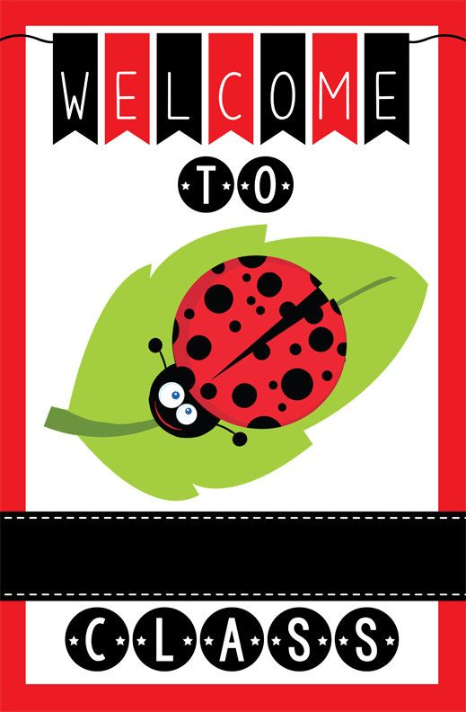 LADY BUG theme classroom decor - Teacher Welcome Sign - magnet by ArtrageousFun on Etsy