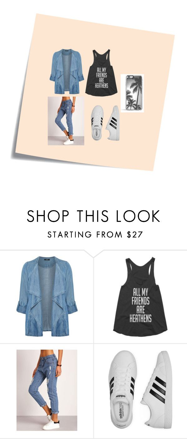 """""""Untitled #27"""" by romi6-1 ❤ liked on Polyvore featuring Post-It, Evans, adidas, Zero Gravity and plus size clothing"""