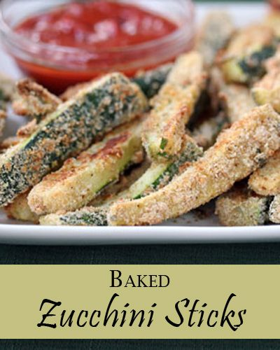 Healthy recipe for Baked Zucchini Sticks from 5DollarDinners.com