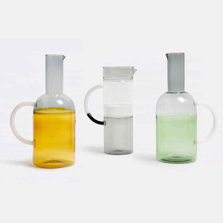 The work of Japanese Italian studio MIST O the Tequila Sunrise carafe collection is a juxtaposition of glass elements in different colours which makes it look as if it has liquid in it already. via- handmade, potions