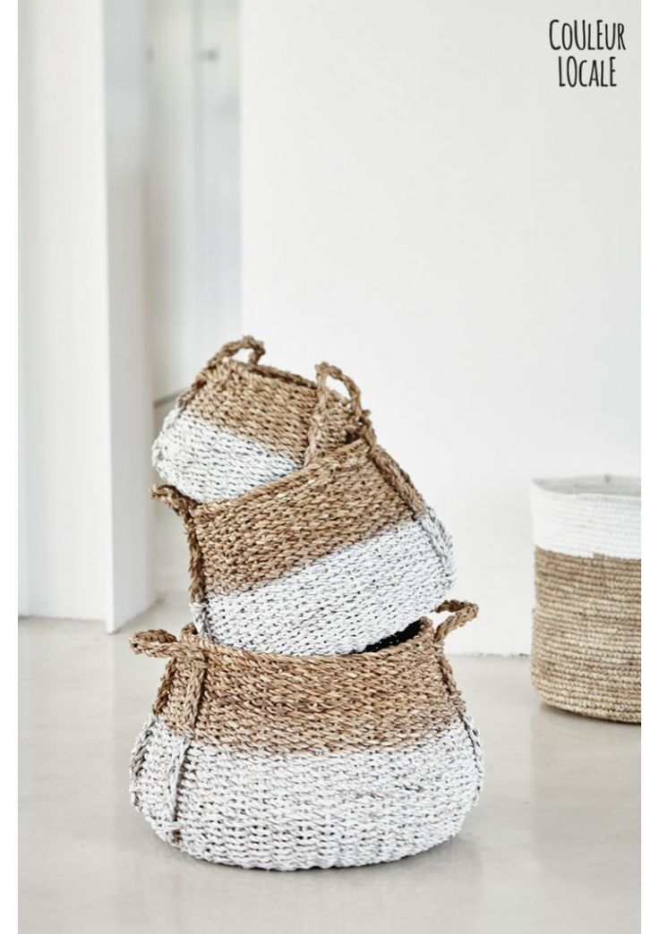 Seagrass basket dip dyed - site couleur locale