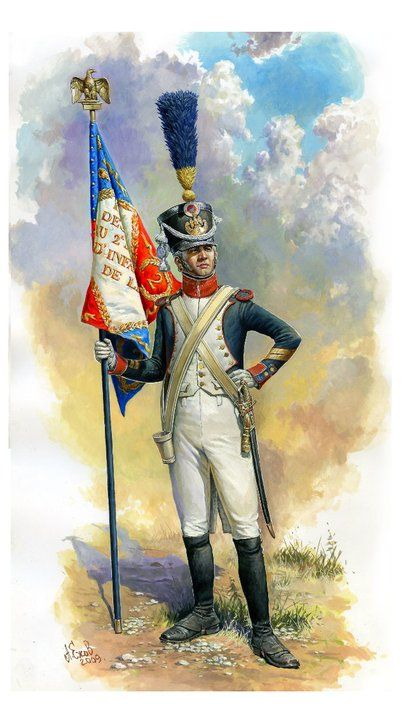 French Line Infantry Officer Standard Bearer by Aleksandr Yezhov.