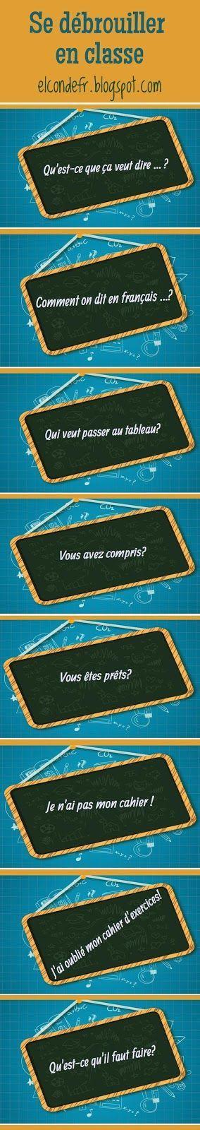 French Classroom Essential Questions/Expressions. Se débrouiller en classe
