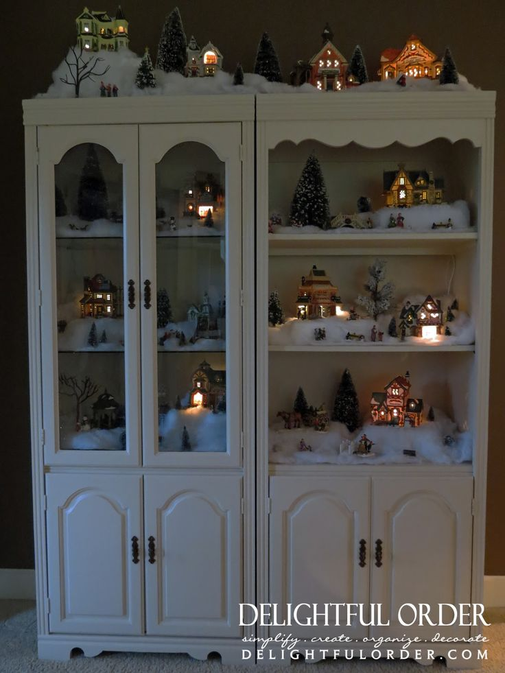 how to make a china cabinet display