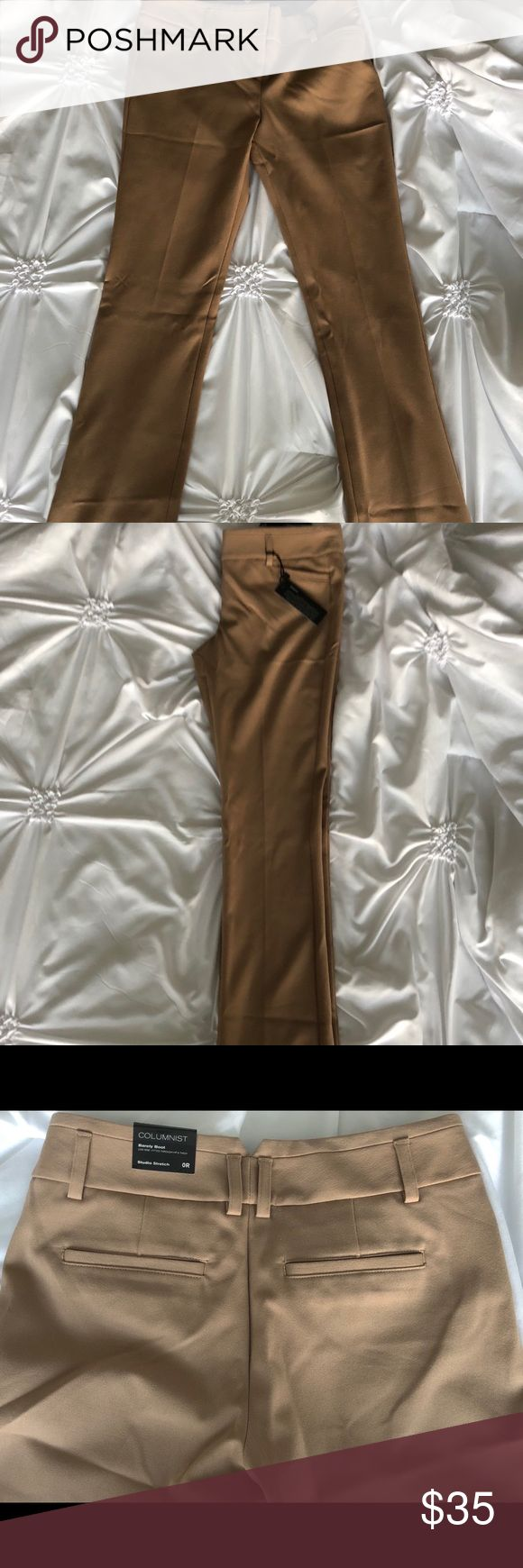 NWT Express Columnist Boot Dress Pants NWT! Never worn before. Express barely boot columnist dress pants. Super soft material! Express Pants Trousers
