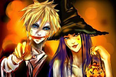 Two friends in Happy Holloween