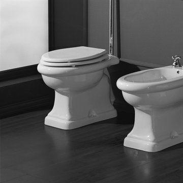 Toiletsæde til Old Victorian toilet i klassisk stil. Made in Italy
