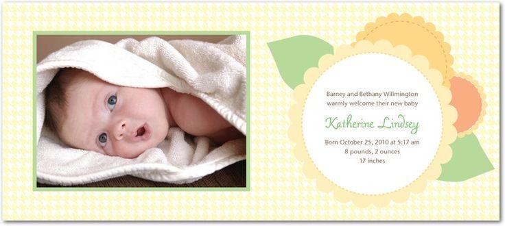 Studio Basics: Birth Announcements - Felt Flowers by Tiny Prints