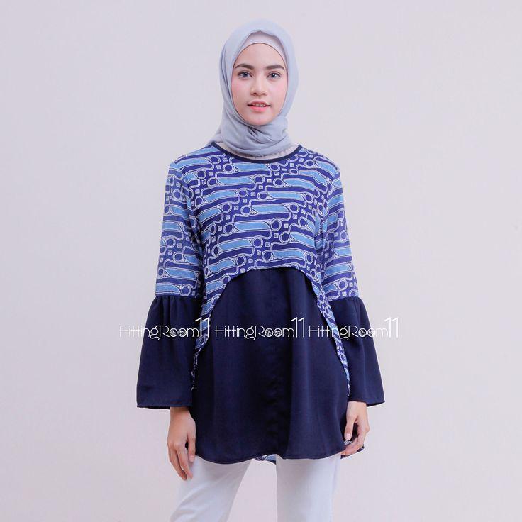 Jenis batik: Batik motif parang cap Cirebonan . Material: Batik kain Dobby Polos wolly crepe