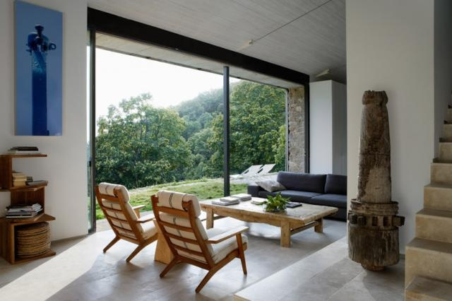 High-Style Sustainability in SpainLiving Spaces, Big Windows, Cottage, Country House, Interiors Design, Living Room, Country Home, Extremadura, Architecture