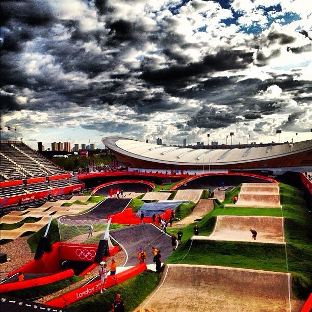 The BMX track on the Olympic Park - Picture from http://www.london2012updates.blogspot.co.uk