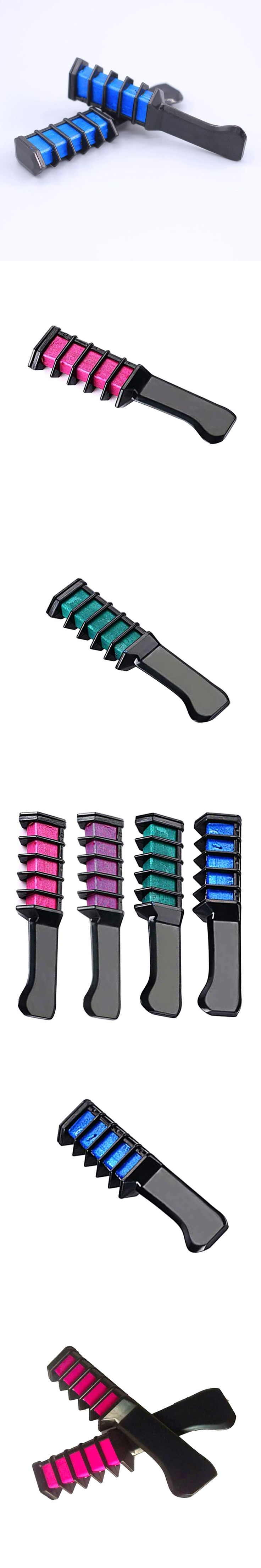 2016 Professional Semi Permanent Hair Color Chalk Powder With Comb Temporary Hair Mascara Multicolor Dye Tool
