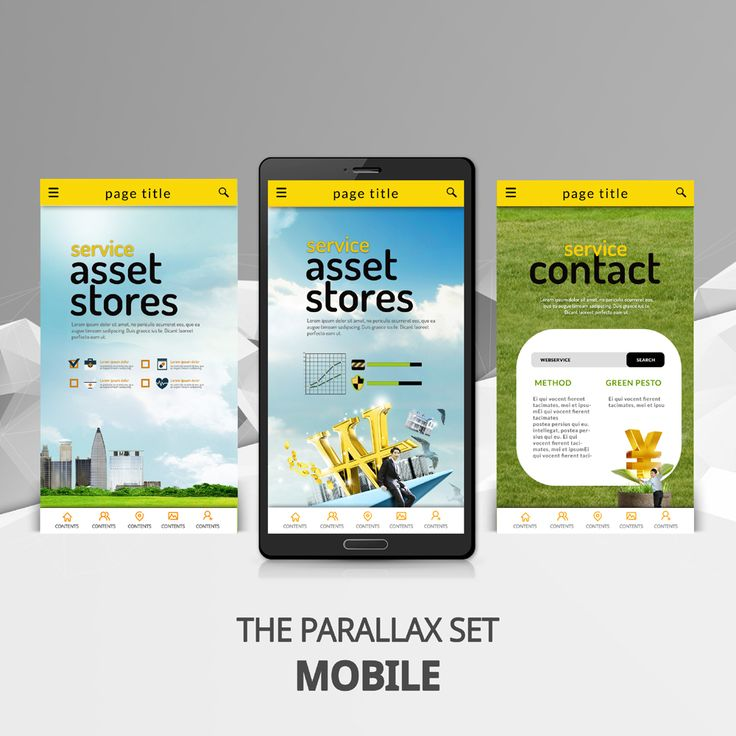 mobile parallax business template - iclickart