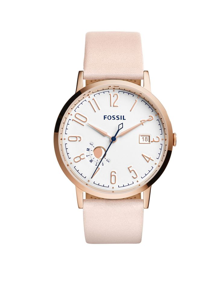 De frisse kleuren van dit roségoudkleurige Fossil horloge passen perfect bij dit…