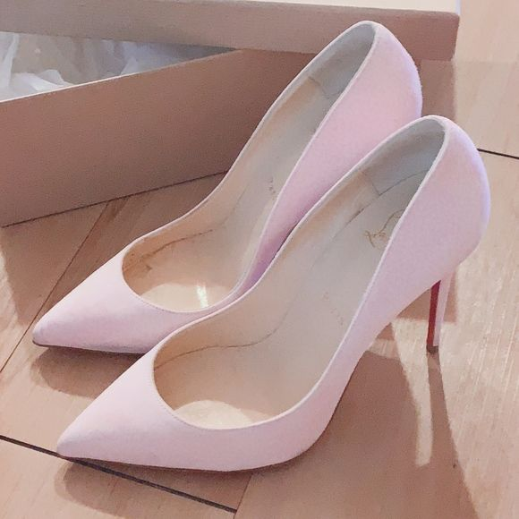 light pink louboutin heels