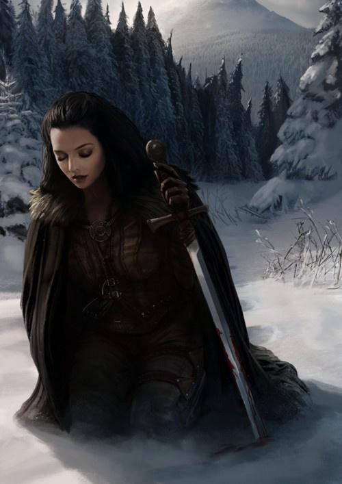 warrior kneeling take up your sword pinterest snow. Black Bedroom Furniture Sets. Home Design Ideas