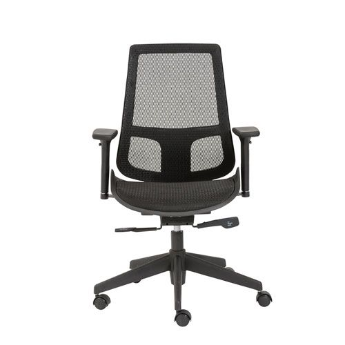 Vahn Black Mesh Office Chair