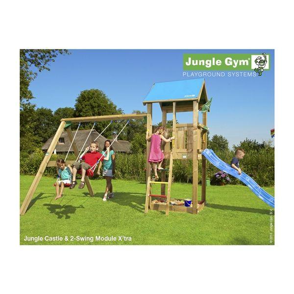 NSH Jungle gym - CASTLE M/GYNGESTATIV, 2 GYNGER & SANDKASSE