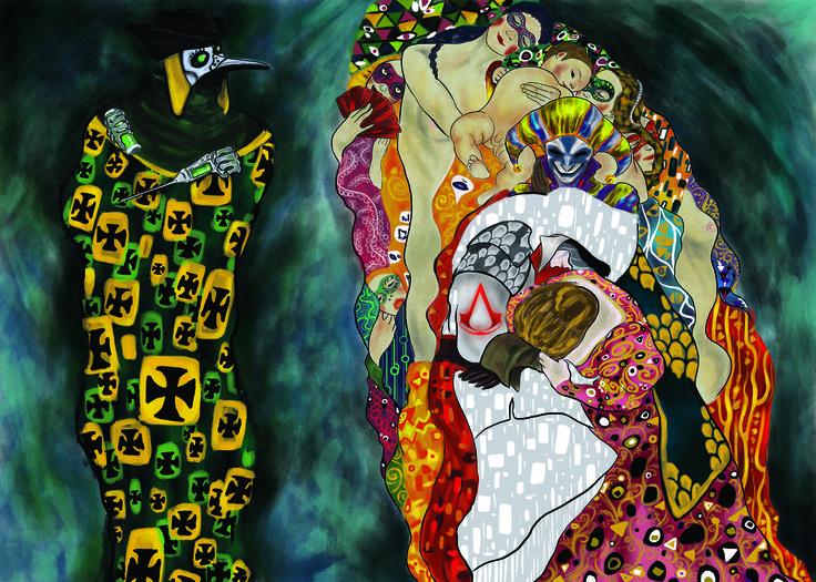 """Opera AC / Klimt """"Morte e Vita"""" for Neoludica exhibition in Venice"""