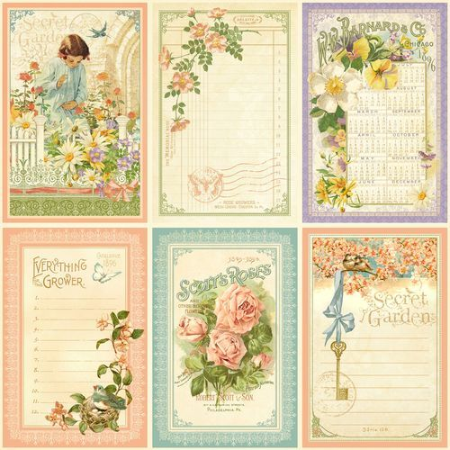 """""""May Flowers"""" front page from our new collection Secret Garden. In stores February! #graphic45 #CHAshow #CHAW2013"""