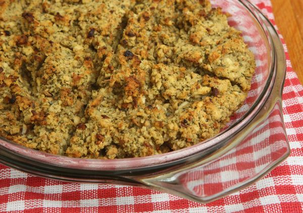 Hearty Side Dish: Mushroom, Onion and Sage Stuffing