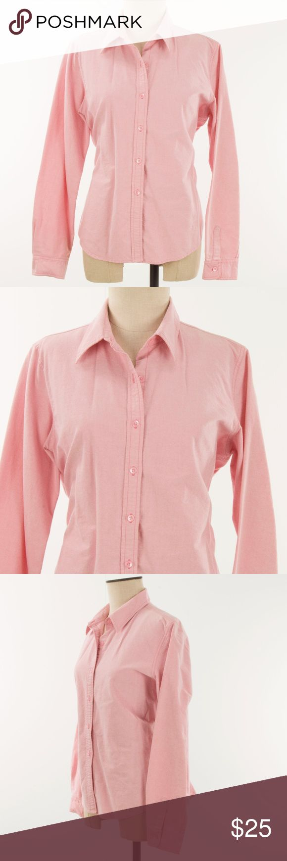 "J Crew Women Shirt Size XL Button Down Pink J Crew Women Shirt Size XL Button Down Pink Oxford Cotton Long Sleeve Sizes vary. Please check measurements below to ensure a proper fit.  Measurements: Chest (measured armpit to armpit):  18.5"" Length (measured from back at top of collar to edge): 27.5"" Sleeve Length (shoulder seam to end of sleeve): 23.5"" J Crew Tops Button Down Shirts"