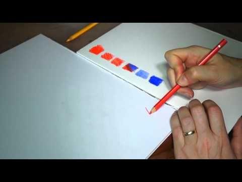 Uitleg over het gebruik van aquarelle potloden, gemaakt met behulp van zoon ;)