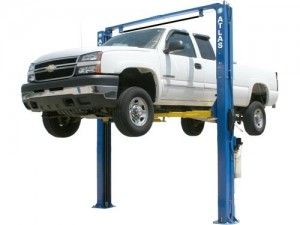 http://www.gregsmithequipment.com/Shop/2-Post-Lifts - Lifting a car or pickup truck to the correct working height requires a reliable 2-post Car Lift. Automotive service centers, new car dealers, and Mr. Homeowners all agree that an above ground two post lift is the most economical type to raise a vehicle to the proper working or storage height. Greg Smith Equipment has sold thousands of Atlas 2 post lifts over the last three decades. Above groun