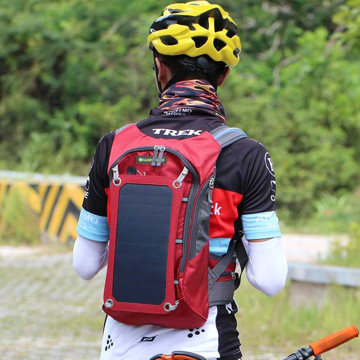 Solar Powered Chargeable Battery Backpack
