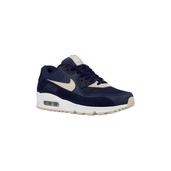 Nike Wmns Air Max 90 Shoes (Trainers) ($245) ❤ liked on Polyvore featuring shoes, sneakers, beige, trainers, women, nike sneakers, beige sneakers, nike trainers, beige shoes and nike