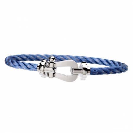 Bracelet Fred Force 10 Manille Or Gris