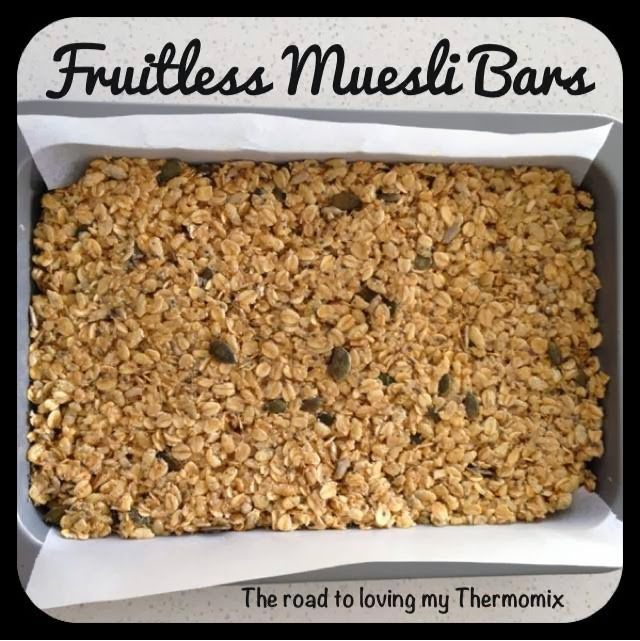 The road to loving my Thermomix: Fruitless Muesli Slice