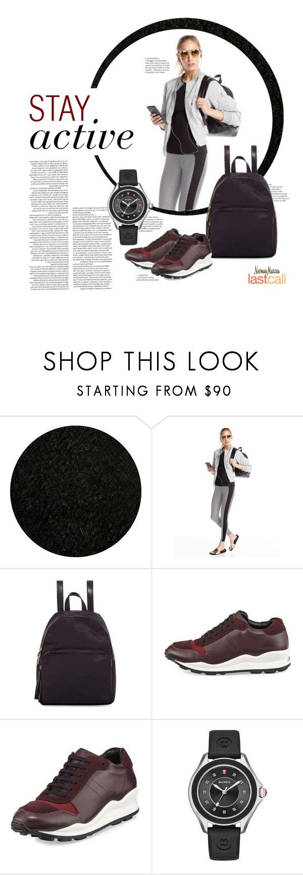 """""""Stay Active"""" by lastcall ❤ liked on Polyvore featuring Momeni, Koral Activewear, Neiman Marcus, Opening Ceremony, Michele and Lydell NYC"""