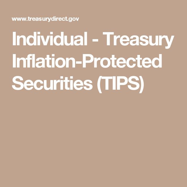Individual - Treasury Inflation-Protected Securities (TIPS)