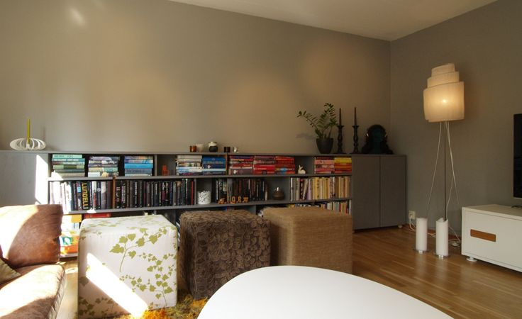 book shelf by drawing room