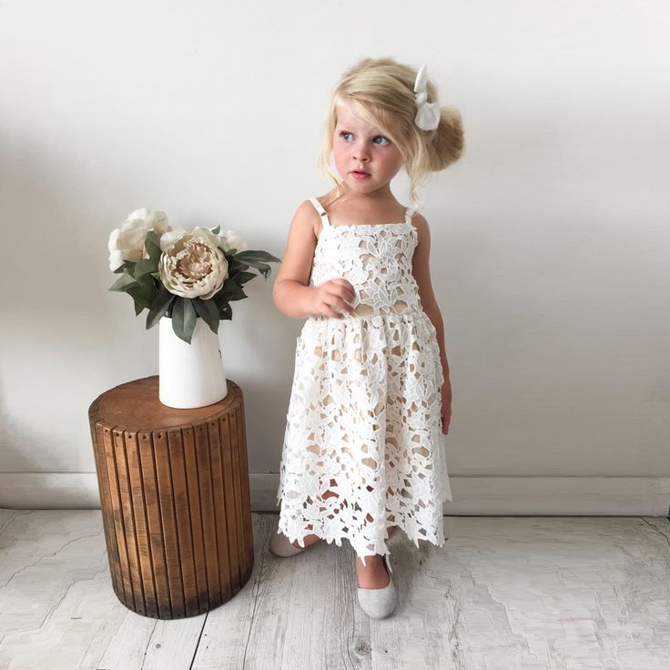 Girls Ophelia Lace Dress - Arabella Rose