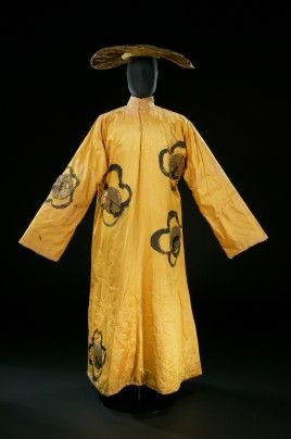 """Henri Matisse, costume for a Mandarin from """"The Song of the Nightingale,"""" 1920. Satin, paint, and tinsel."""