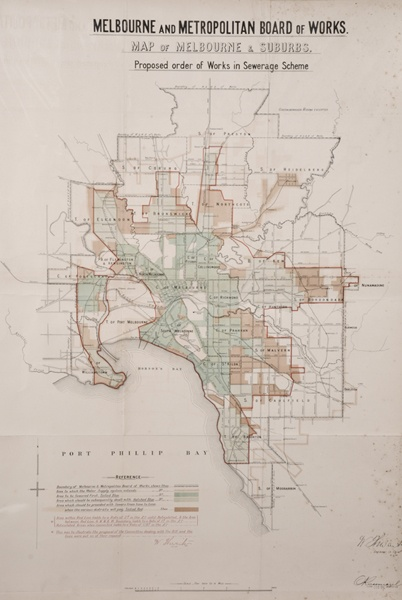 Map of Melbourne 1896