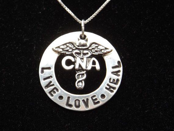 CNA Live Love Heal necklace CNA gift Certified Nursing