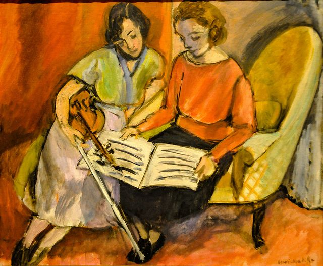 Henri Matisse - The Music Lesson, Two Women Seated on a Divan, 1921 at Baltimore Museum of Art Baltimore MD by mbell1975, via Flickr