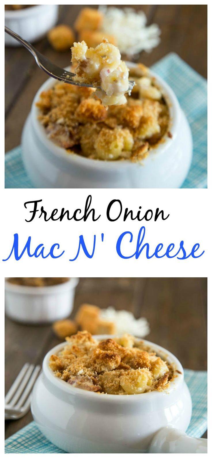 French Onion Mac N' Cheese – Creamy mac n' cheese with ...