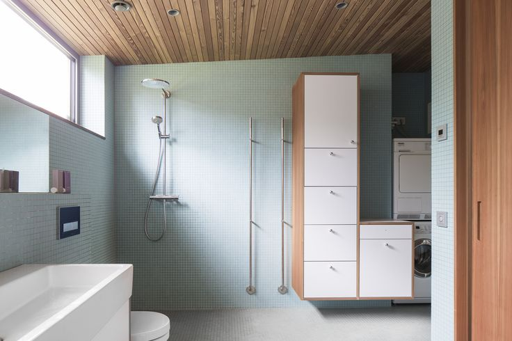 Combination of service spaces - WC and laundry