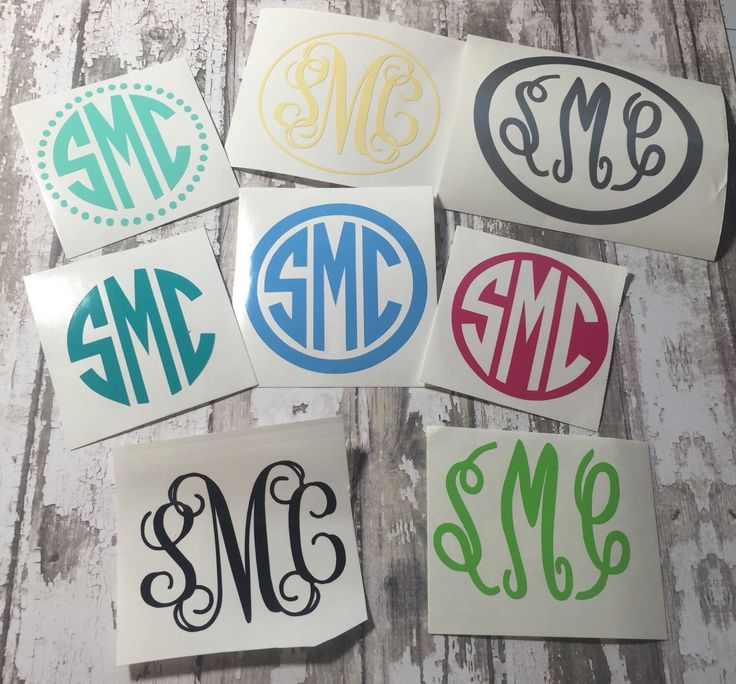 Best Yeti Images On Pinterest Monogram Decal Car Decals And - Monogrammed custom vinyl decals for car