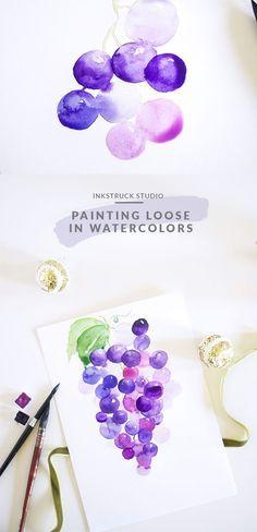 Loose watercolor painting - A detailed tutorial   Inkstruck Studio