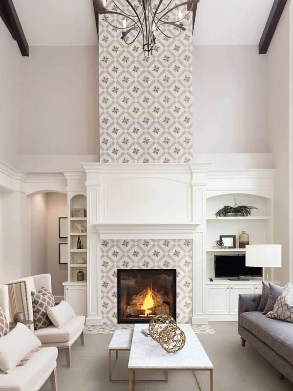 14 Impressive Fireplaces That Feature Tile In A Big Way In