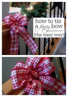 How to Tie a Fancy Bow...the EASY way! Video tutorial included! If you want to add bows to your holiday decor or packaging, this is a must-see. simplykierste.com