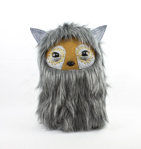 Silver Fox Alien Sloth Nugget Plushie Cool Critter by CoolCritters
