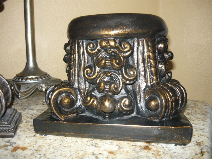Capital Candle Holder. Hand Made And Hand Finished Antique